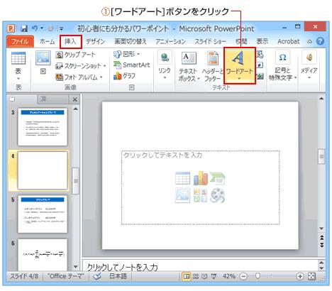 PowerPointワードアートボタン