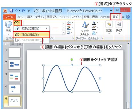 PowerPointの曲線図形