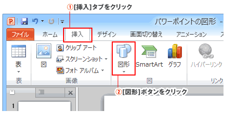 PowerPoint図形の作成