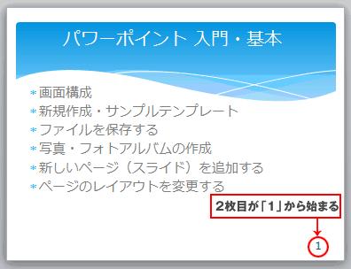 PowerPointページ番号
