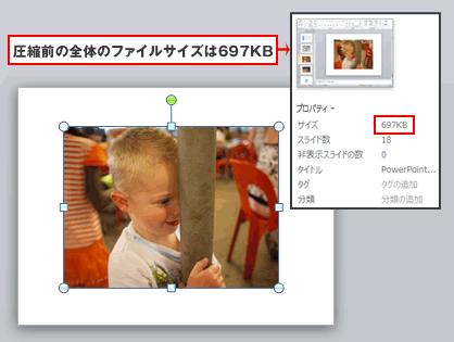 PowerPoint、エクセル、ワードで写真データの圧縮