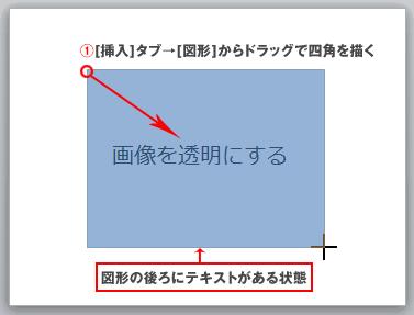 PowerPointで半透明の写真を設定