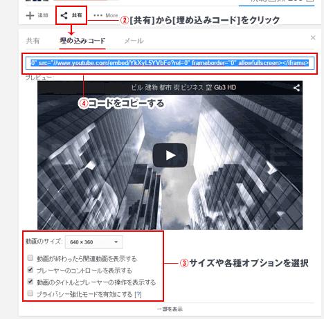 youtubeの動画を外部に貼り付ける方法